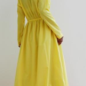 Yeloow Maxi Dress - Long Sleeved Ma..