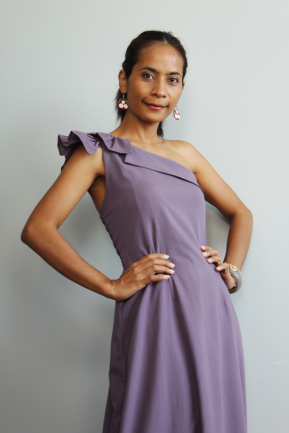 Purple Maxi Dress - One Shoulder Bridesmaid Dress : True Elegance Collection II