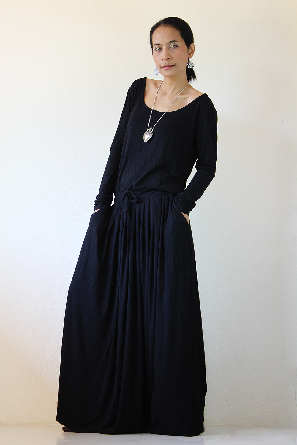 a18e89c332c9 Black Maxi Dress - Long Sleeve Dress on Luulla